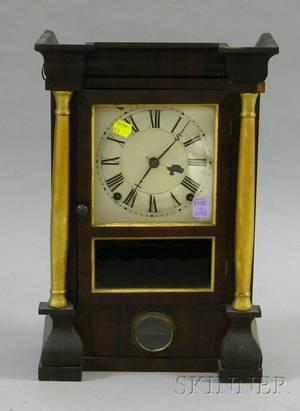 Mahogany Veneered Shelf Clock by Seth Thomas