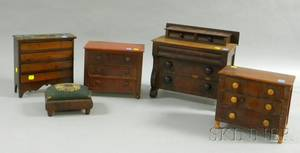 Five Pieces of Childrens and Miniature Furniture