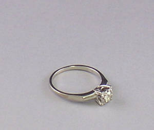 White Gold and Diamond Solitaire Ring