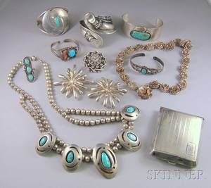Small Group of Sterling Silver Jewelry Items