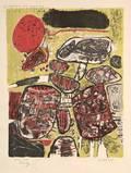 Corneille Belgian b 1922 Le Soleil rouge