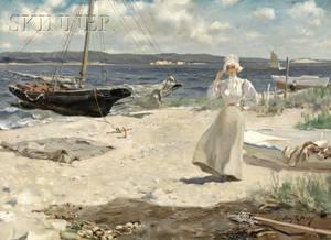 Irving Ramsey Wiles American 18611948 A Walk Along the Harbor Shore