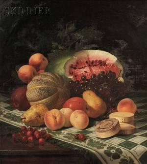 Robert Spear Dunning American 18291905 Still Life with Fruit