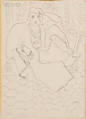 Henri Matisse French 18691954 Seated Woman in Oriental Dress
