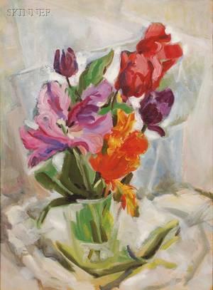 Olga Itasca Sears American 19061990 Still Life with Tulips