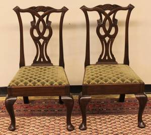 Set of Six 19th Century Chippendale Mahogany Dining Ch