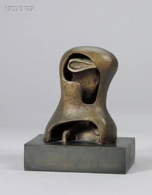 Henry Moore British 18981986 Head Cyclops