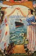 Fernand Le Quesne French 18561918 Lady Liberty Leading the Way