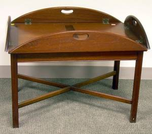 Chippendalestyle Mahogany Butlers Tray Table