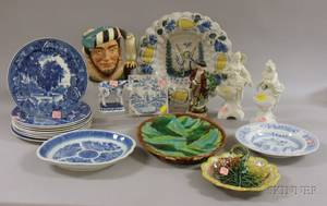 Twenty 18th and 19th Century English and Continental Decorated Ceramic Items