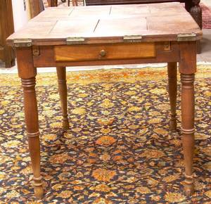 French Provincial Fruitwood Foldingtop Dining Table