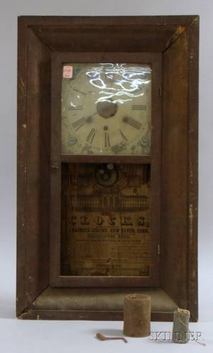 Mahogany Ogee Clock by Chauncey Jerome