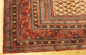 Hand Woven Semi Antique Persian Mir  approximately
