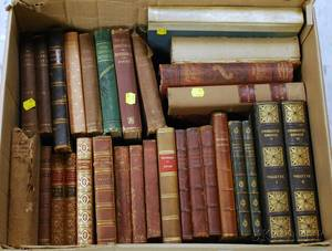 Collection of Approximately Eighteen Miscellaneous Leather Bindings and 19th Century Bindings