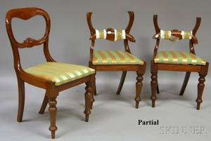 Set of Six Victorian Carved Beechwood Side Chairs