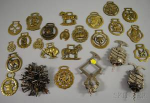 Group of Decorative Metal Items