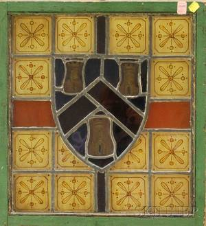 Architectural Leaded Stained Glass Armorial Window