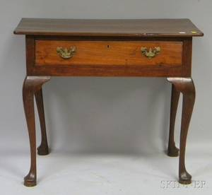 English Queen Anne Walnut Dressing Table
