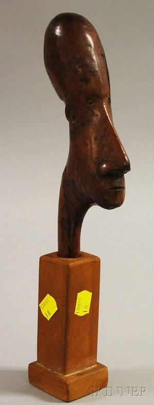 South African Carved Wood Head