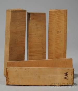 Five Quartersawn Maple Violin Neck Blocks