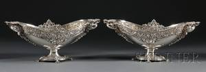 Pair of Tiffany  Co Sterling Fruit Compotes