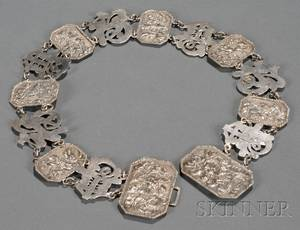 Chinese Silver Belt