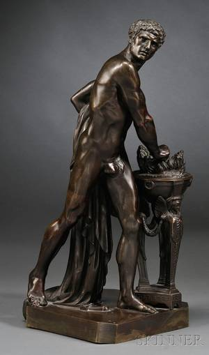 French Bronze Figure of a Gladiator