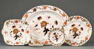 Set of Royal Crown Derby Imari Palette Bone China Dinner Service