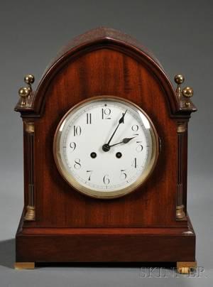 Mahogany Gothic Revivalstyle Mantel Clock