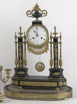 French ebonized mantle clock ca 1860