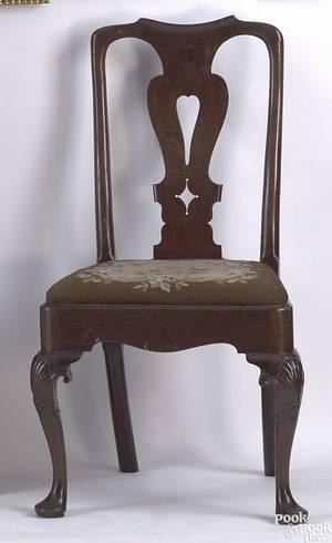Irish Queen Anne mahogany side chair ca 1740