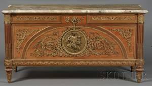 Louis XVIstyle Bronzemounted Mahogany Side Cabinet