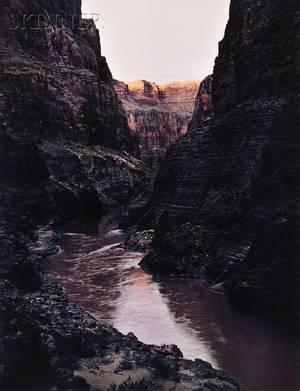 James Clinton Bones American b1943 Evening Light on the Rim of the Grand Canyon of the Colorado River Arizona