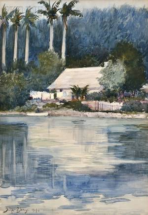 Dwight Blaney American 18651944 House on the Homosassa River Florida