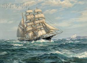 Charles Bridgeman Vickery American 19131998 Sailing At Full Mast