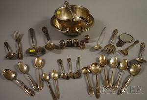 Group of Silver Flatware and Serving Items