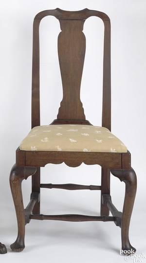 Boston Massachusetts Queen Anne walnut side chair ca 1740