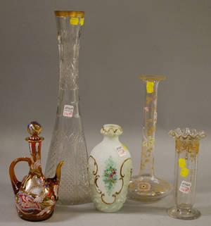 Five Pieces of Assorted European Art Glass