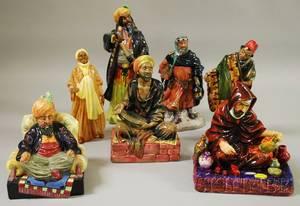 Seven Royal Doulton Porcelain Figural Groups