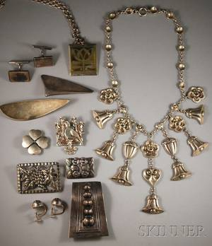 Group of Georg Jensen and Other Sterling Silver Jewelry