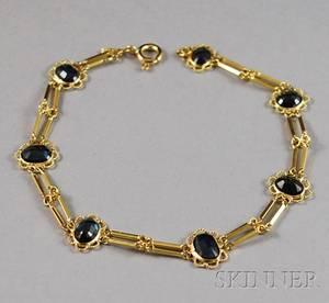 18kt Gold and Sapphire Bracelet