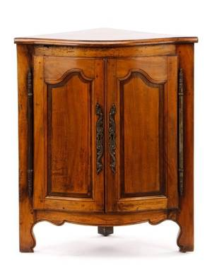 19th C French Provincial Style Corner Cabinet