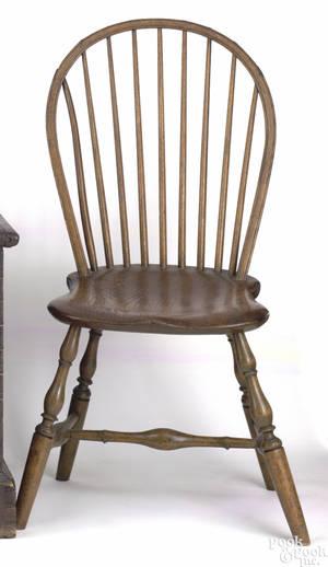 Salem Massachusetts bowback windsor side chair ca 1790