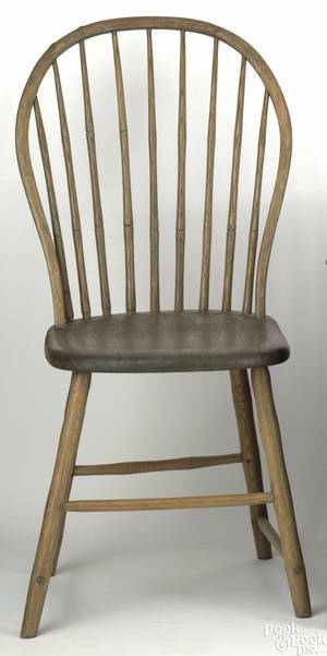 Chester County Pennsylvania bowback windsor side chair ca 1810