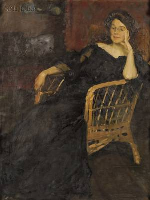 Claudio Castelucho American 18701927 Portrait of a Seated Woman