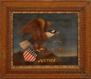 American School 19th Century American Eagle Symbol of Justice