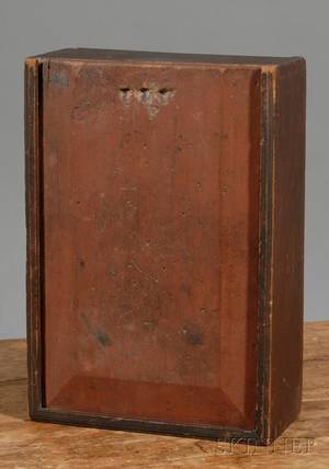Redpainted Slidelid Pine Box