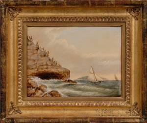 Clement Drew American 18061889 Schooner Head Mt Desert