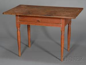 Maple and Pine Redpainted Pine Tavern Table