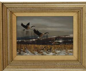 Gerald Lubeck American b 1942 Flying Geese